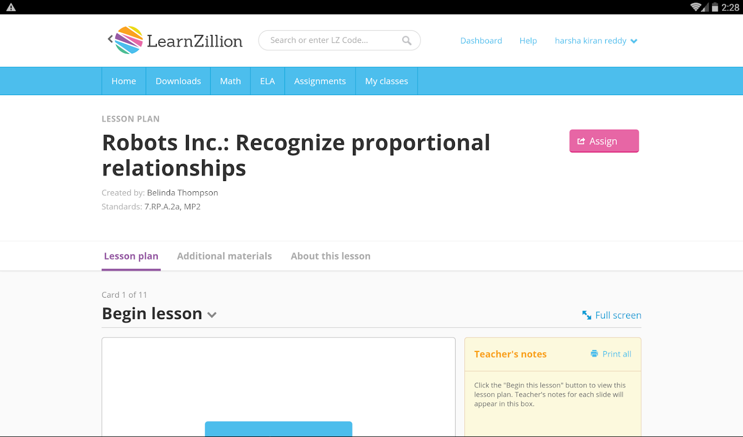 LearnZillion- screenshot