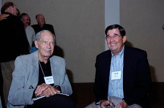 Photo: Bruce Hunter. husband of Carol Beutler Hunter, and Bob Haines, husband of Elsa Woolbert Hines