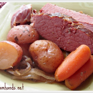 Crock Pot Apple and Brown Sugar Corned Beef.