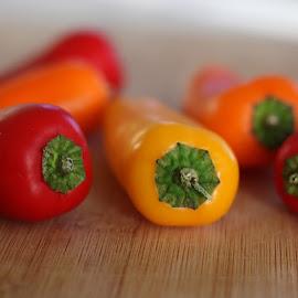Variety of peppers by Annalie Coetzer - Food & Drink Fruits & Vegetables ( peppers, diet, fresh, food, vegetables, healthy, cooking )