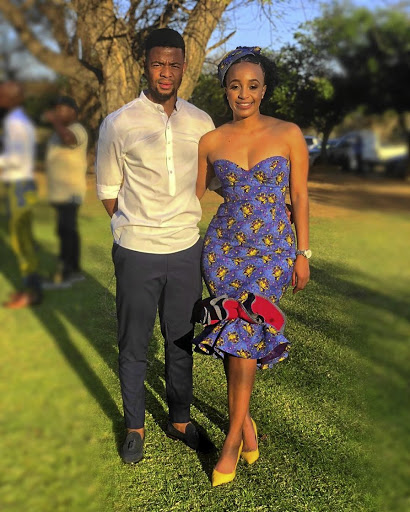 Mamelodi Sundowns midfielder George Lebese and Sizakele Manonga shared snapshots of their rekindled love on Instagram at the weekend.