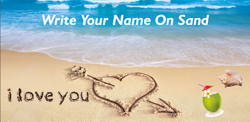 Write Name On Sand Beach Message With Sea Wave S