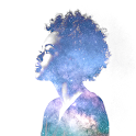 Galaxy Overlay Space Photo Effect, Double Exposure icon