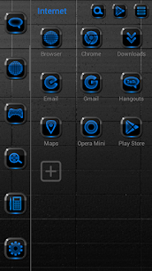 NEON BLUE Smart Launcher Theme 2.30 3