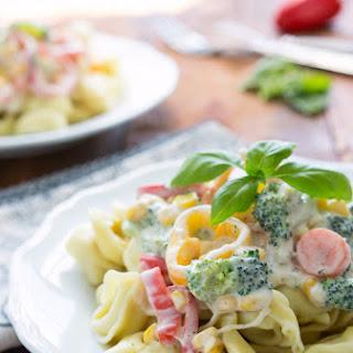 Creamy Farmer's Market Tortellini + A Giveaway