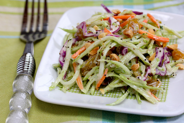 Broccoli Slaw with Dried Cranberries Recipe