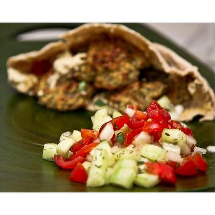 Baked Falafel Recipe With Israeli Salad