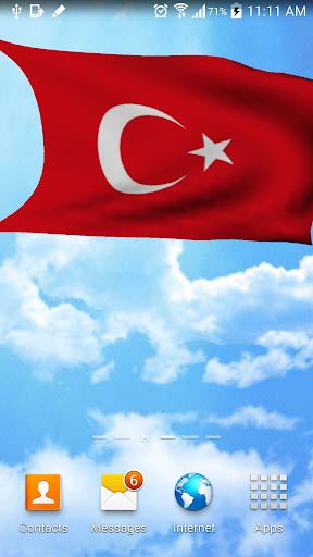 3D Turkey Flag Wallpaper Free