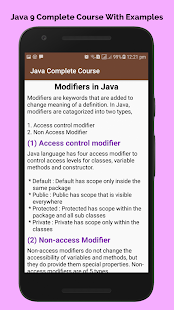 learn basic java Programming tutorials offline Screenshot