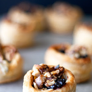 Blue Cheese, Cranberry And Walnut Puff Pastry Bites
