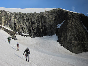 Photo: Summit in top right of photo.