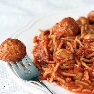 Healthy Crockpot Spaghetti.