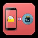 Move files to SD card icon