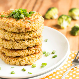 Broccoli Cheese Rice Cakes