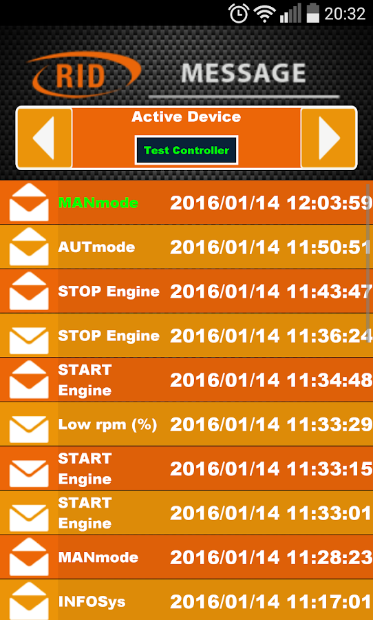 RID Remote SMS – Screenshot