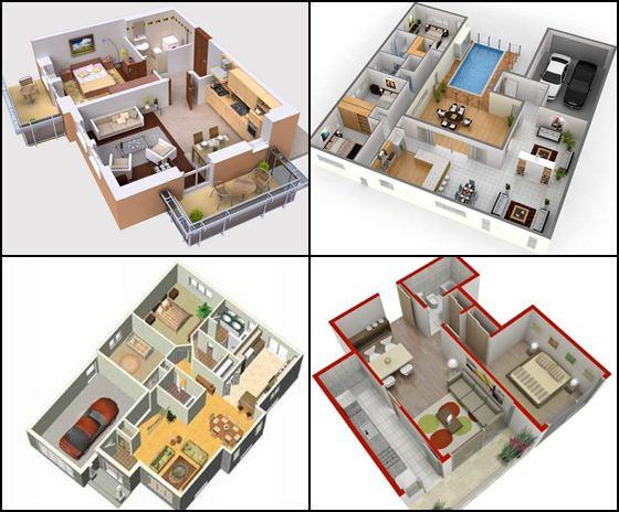 3d small house plans idea screenshot