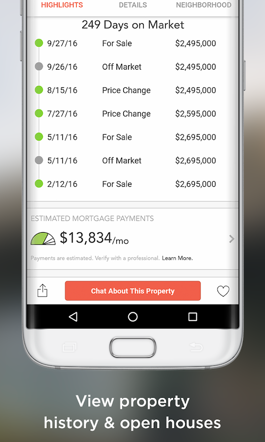 HomeSpotter Real Estate Search- screenshot