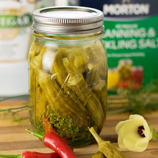 Spicy Dill Pickled Okra.
