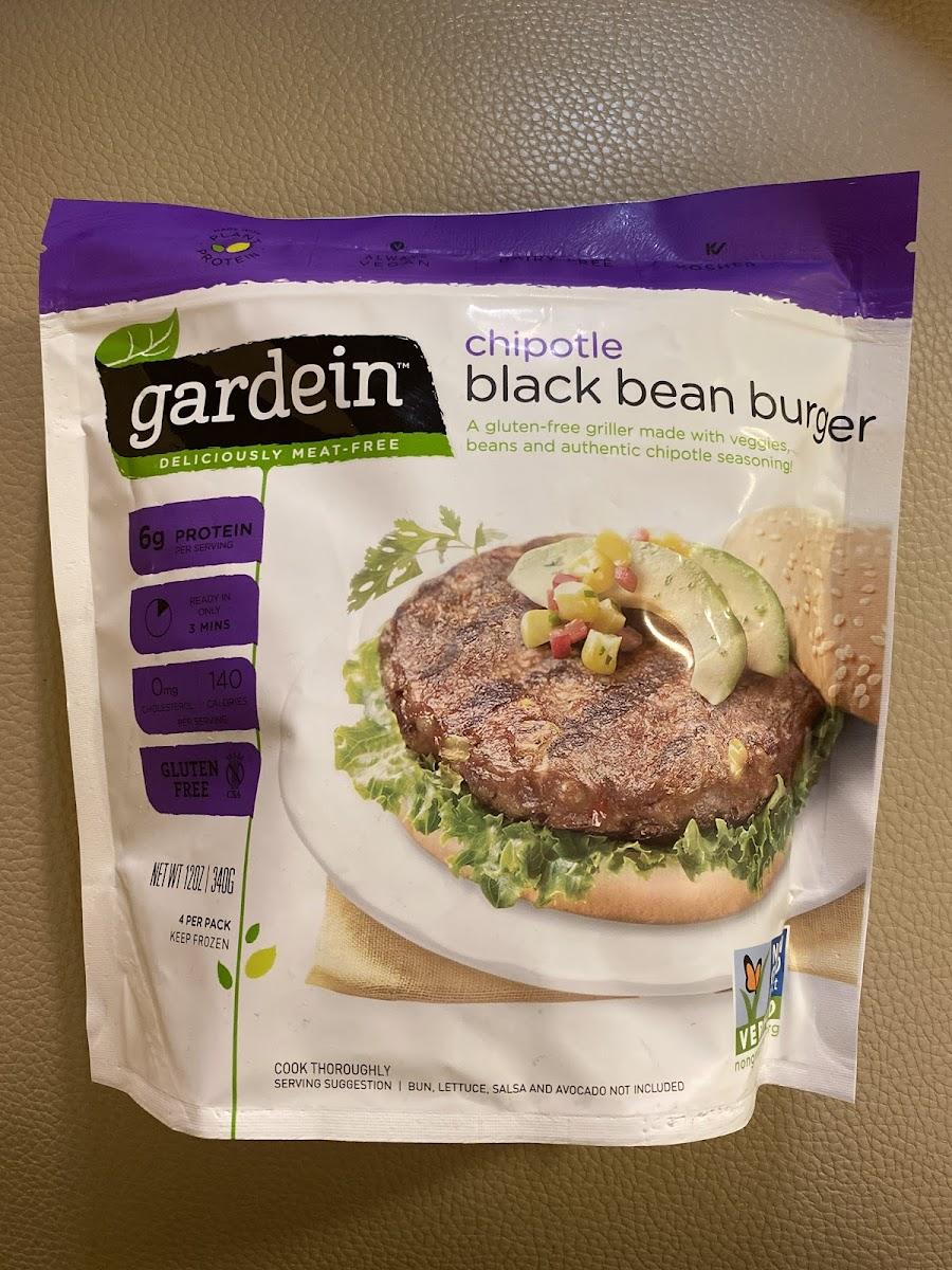 Black Bean Burger, Chipotle