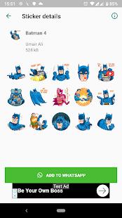 Модные наклейки Бэтмена (WAStickerApps)