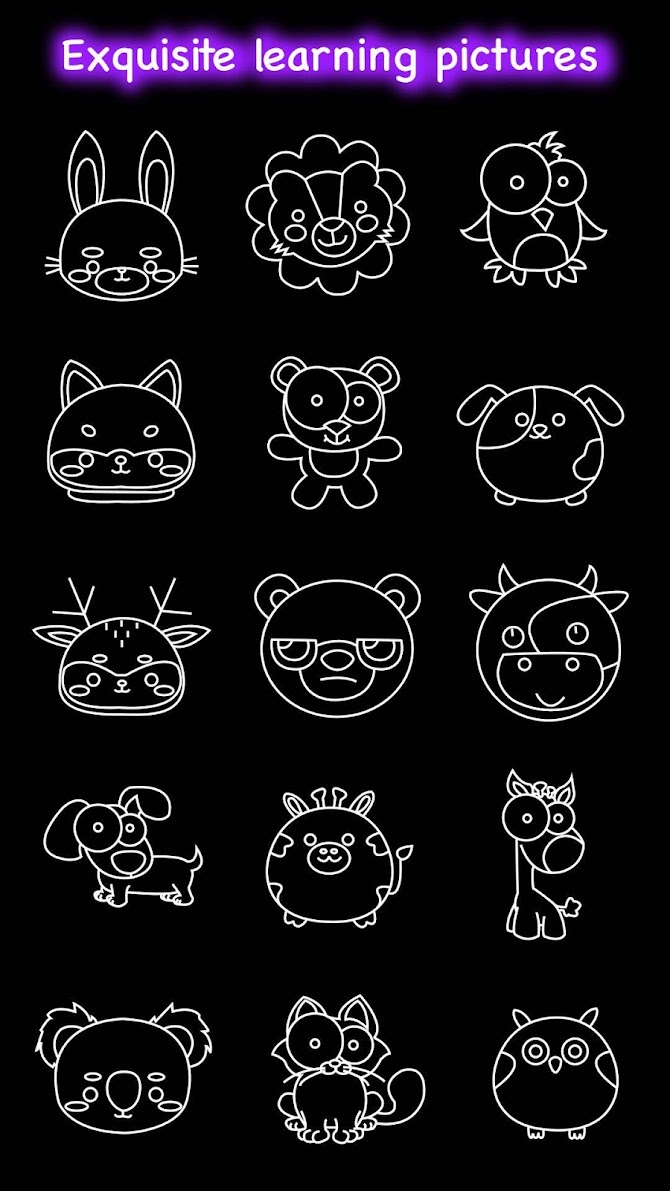 Draw Glow Animals Android 8