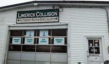 Photo: Limerick Collision in Medway, MA proudly displaying their BBB Accreditation