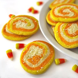 Candy Corn Sugar Cookies (Treats For Co-Irkers)