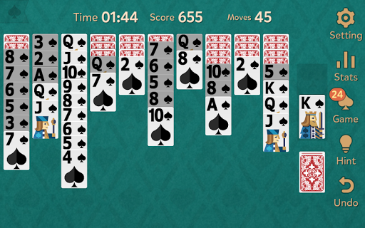 Spider Solitaire: Kingdom modavailable screenshots 15