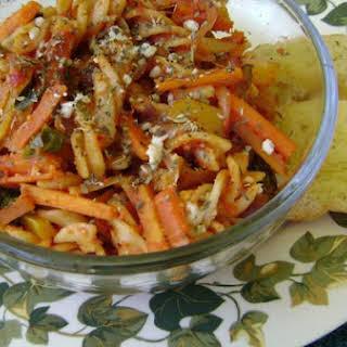 Spicy Herbed Fusilli Pasta.