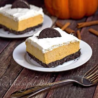 Pumpkin Oreo Cream Dessert Squares.