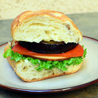 Grilled Eggplant, Roasted Peppers and Gouda Sandwich Recipe