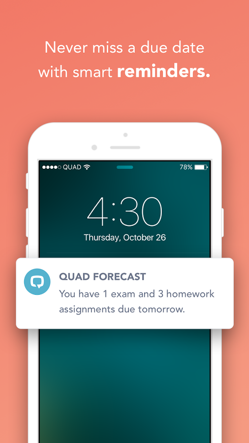 Quad: Your Academic Life, Organized For You.- screenshot
