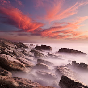 Rock caos by Jorge Maia - Landscapes Waterscapes ( clouds, water, waterscape, sunset, seascape, rocks )