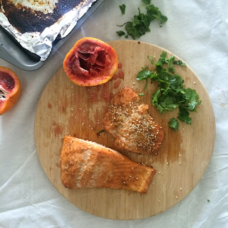 Blood Orange Sesame Salmon.