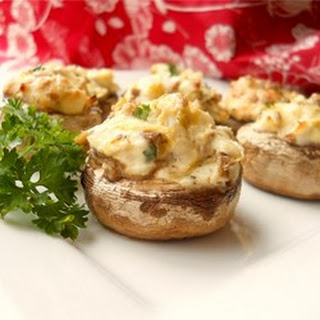 Artichoke Stuffed Mushrooms.