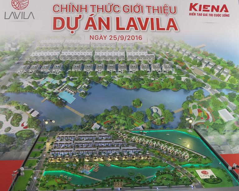Mô hình kiến trúc khu biệt thự vườn LAVILA - Kiến Á