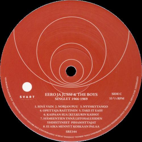 Singlet 1966-1969 etiketti (Svart)
