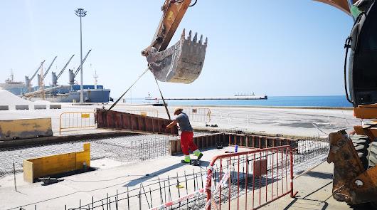 Avanzan los trabajos para instalar dos estaciones lava-ruedas en el Puerto