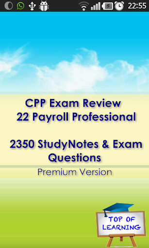 CPP Payroll Exam Review 2350 Q