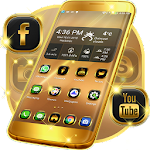 Neon Gold Theme For GO 1.264.1.139