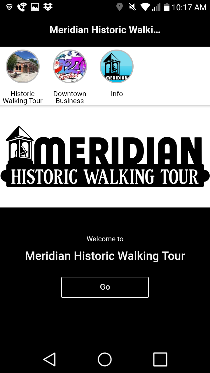Скриншот Meridian Historic Walking Tour