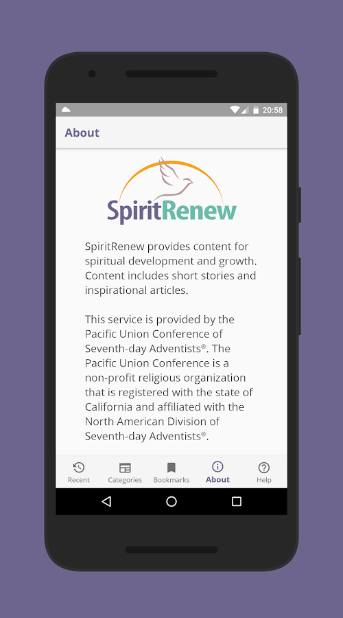 SpiritRenew- screenshot