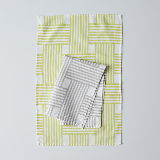 Lattice Stripe Tea Towel