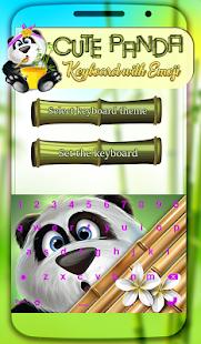 Roztomilý Panda Klávesnice Emotikony - náhled