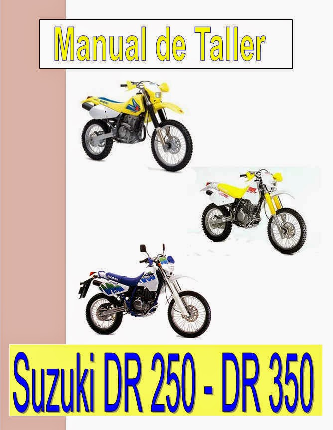 suzuki DR 350-manual-taller-despiece-mecanica