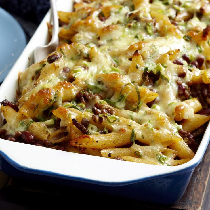 Mexican Bean and Pasta Bake