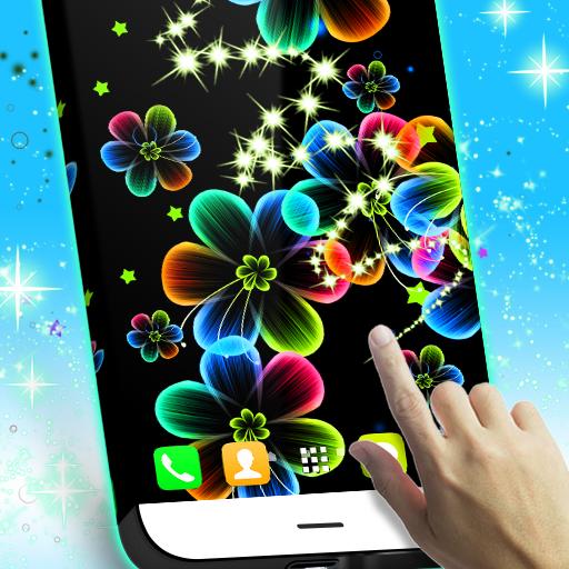 霓虹灯花动态壁纸 個人化 App LOGO-硬是要APP