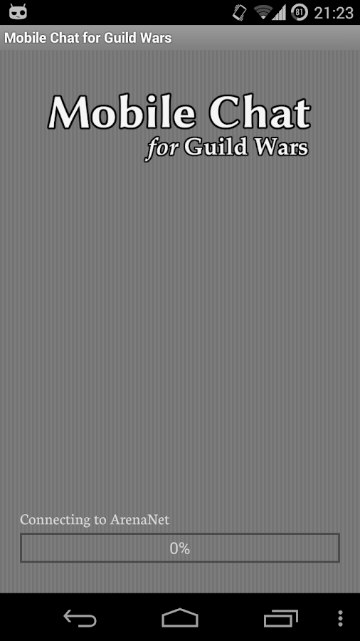 Mobile Chat for Guild Wars- screenshot