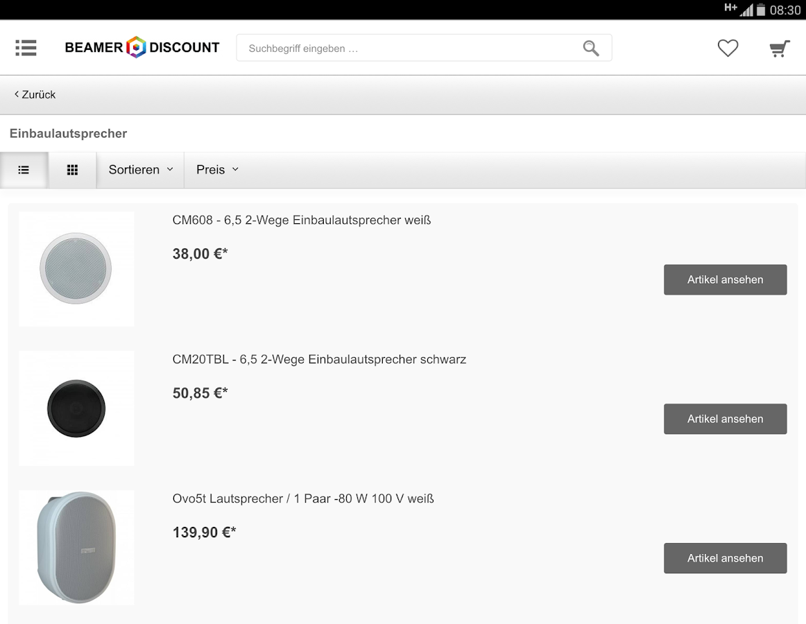 Beamer-Discount.de- screenshot