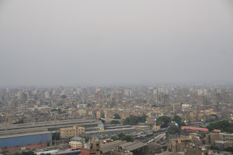 Photo: view of Cairo fro our room